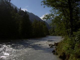 The Saalach River