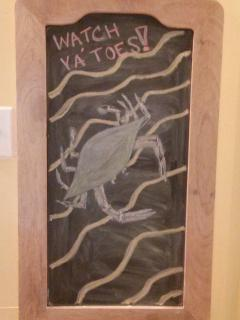 Leave some chalk art on the board before you go...