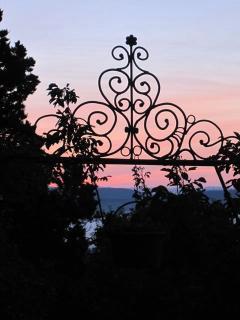 Sunset with art of Arnold Hertel