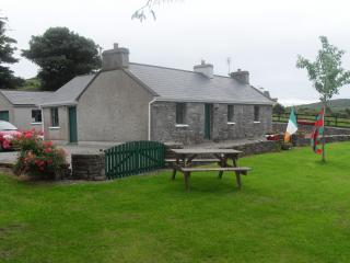 Toms Cottage magnificent sea views of Clew Bay and the pier in Rosmoney Westport