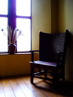 A seat by the window.