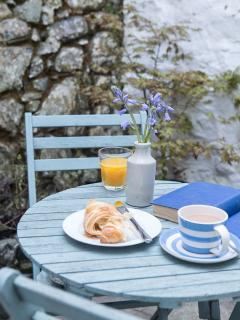 Breakfast in the courtyard garden