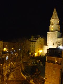 view from the living room, left : Accoule church and typical Panier, provencal village in Marseilles