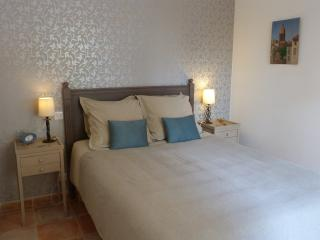 Bedroom with calming Provencal colours
