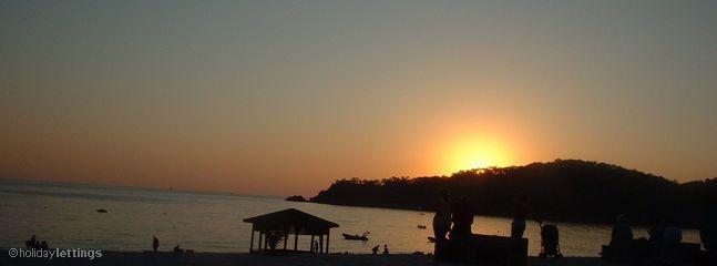 Sunset over Olu Deniz beach
