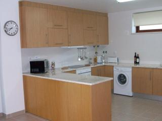 Large open plan kitchen with so much work space with a dishwasher of course