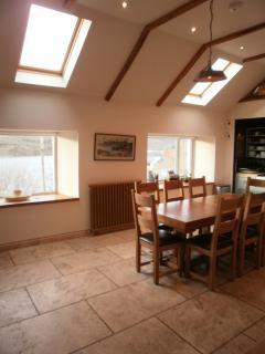 Kitchen, overlooking Loch seats 10