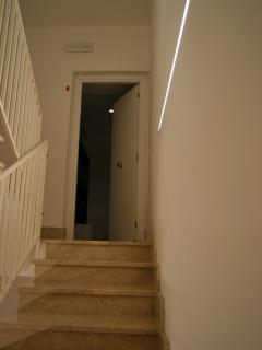 Stairs to the flat.