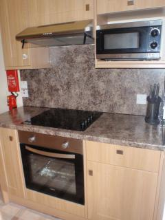 Electric oven, hob and microwave