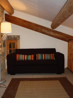 Sofa-bed available on the mezzanine