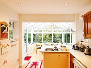 View from the kitchen into the conservatory