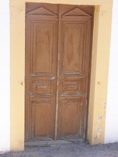 Traditional door of Asfendiou