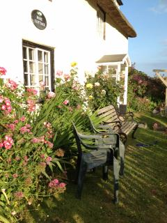 Rose Cottage lives up to its name in Summer glory!