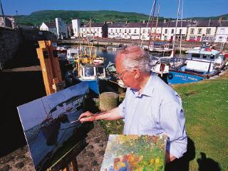 Artist at Carnlough Harbour