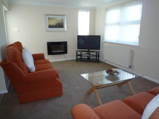 Lounge with 42' widescreen tv and two three seater sofas