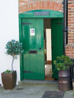 Private entrance to Aldeburgh Lookout and a secure place to park your  bikes and buggies