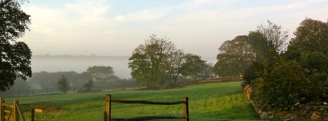 Misty autumn morning view from Rose Cottage
