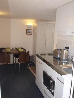 Kitchenette and dining area...