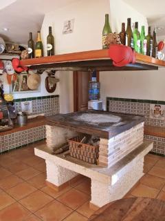 Indoor BBQ / Paellero in bar area