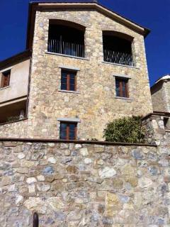 Borgo tower with our terrace at the top.The Borgo is fantastic. New built in an old style.