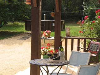 Relax on the terrace with a glass of wine...
