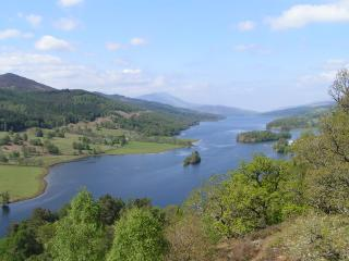 but stop at Queens View over Loch Tummel