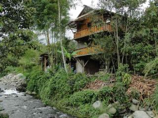 Luxury wooden house in the paradise on a riverside