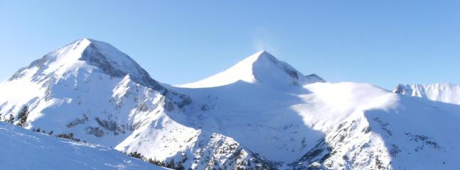 mountains in the ski area