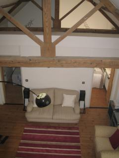 300 year old barn conversion with exposed beams and period features