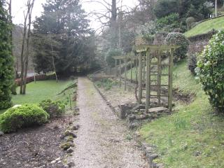 The Gardens leading to the River Wye