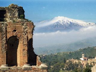 Teatro-Greco and Mount Etna
