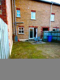 Enclosed secure rear garden