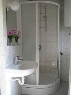 One of two bathroomsLavender house