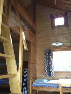 Syväjärvi´s other accommodation cabin in two floors, beds for 7 persons