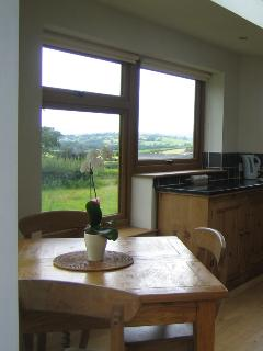 Dining table and view to the West and its stunning sunsets