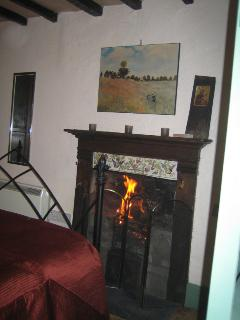 Working fireplace in the bedroom, for an extra touch of romance