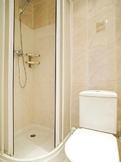 Complete bathroom with shower