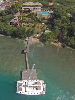 Aerial view with dock