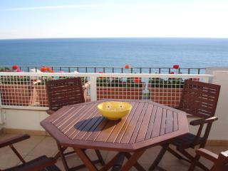 terrace with view to the mediteranean sea