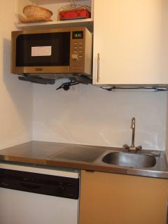 kitchen, dishwasher, microwave combi oven