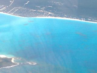Exuma waters from the air