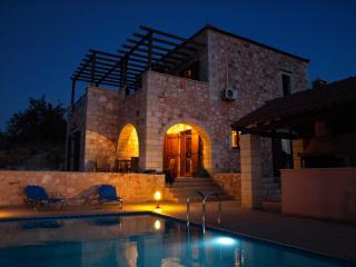 Villa Petra at night