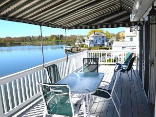 Afternoon Delight: Toast the beauty of the river from the waterfront deck, Beverly