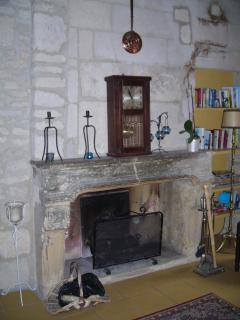 fire place in sitting room