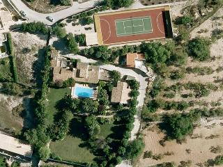 Aerial view of the propertie