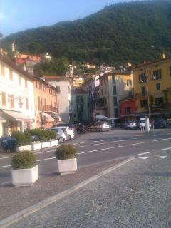 the square at Argegno, just round corner from villa