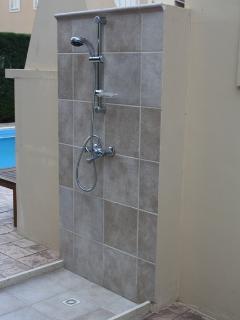 Outside shower near pool area