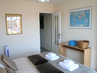 Master bedroom towards hallway.