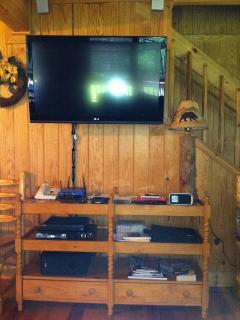 42' Flatscreen TV with Blue Ray & Surround Sound