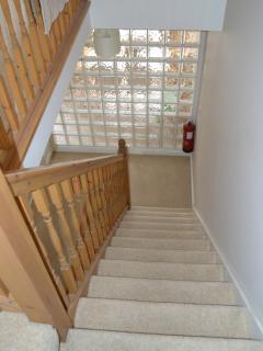 Hallway downstairs to sitting room viewed from top floor